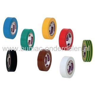Tape 15 mm x 10 Mtr voor het isoleren, bundelen en coderen van stroomkabels, Vlamvertragende Isolatieband, Isolatie Plakband, Isolatietape, PVC tape