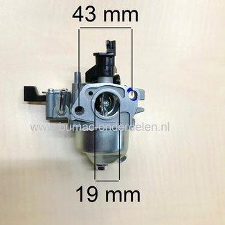 Carburateur voor Loncin G200FD - LC168F-2 Motor op Generator, Trilplaat, Tuinfrees, Quad, Waterpomp, Hogedrukreiniger, Kooimaaier, Verticuteermachine, Veegmachine, Kantensnijder Carburator G 200 FD, LC 168 F2