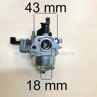 Carburateur voor Loncin  G160 F, LC168F-1 Motor Carburator voor Maaier, Veger, Tuinfrees, Aggregaat, Houtversnipperaar, Trilplaat, Generator, Houtkloof, Hoogwerker, Waterpomp, Hogedrukreiniger, Cart, Kruigen, Powercat, Trekker, Bladblazer, Kooimaaier, Ver