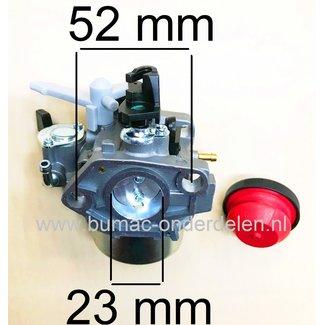 Carburateur voor Loncin G340F, G340FD, LC182F Motor op Grasmaaier, Aggregaat, Trilplaat, Veegmachine, Frees, Triller, Generator, Waterpomp, Hoogwerker, Hakselaar, Versnipperaar, Kloofmachine, Cart, Hogedrukspuit G 340 F, G 340 FD, LC 182 F LCT Carburator
