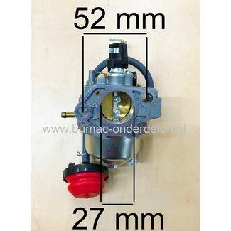 Carburateur voor Loncin LC185FDS, LC190FDS Motorblok Carburator voor Trilplaat, Veger, Triller, Blower, Frees, Klover, Aggregaat, Generator, Hoogwerker, Maaier, Frees, Waterpomp, Stoomcleaner LCT LC 185 FDS, LC 190 FDS