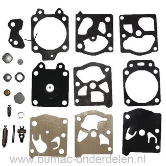 Membraan Reparatieset voor Walbro Carburateur, Membraan voor Kettingzaag, Bladblazer, Bosmaaier, Strimmer, Bosmaaier, Motorzaag.