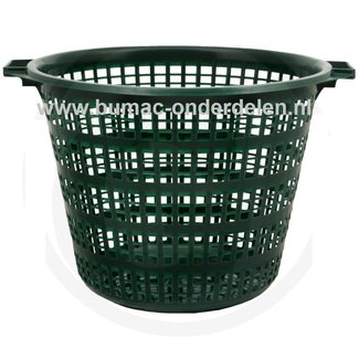 Flexibele kunststof tuinmand, 50 Kg, groen, met handgrepen,  is niet alleen geschikt voor gebruik in uw tuin, maar kan ook prima voor vele andere doeleinden gebruikt worden
