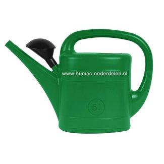Gieter groen 5 liter met maatverdeling en broeskop. Deze kunststof gieter of ook wel gietemmer genoemd is door het handige formaat , inhoud 5 liter, geschikt voor het water geven aan kamerplanten en/of tuinplanten. Een gieter is onmisbaar in huis, kantoor