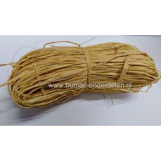 Raffia naturel, verpakt per 50gram, natuurlijk bindmateriaal, klimhulpmiddel, milieuvriendelijk, oersterk, decoratiemateriaal, Dit sterke touw gebruikt u voor verschillende doeleinden, zoals het opbinden van klimplanten, het enten van planten of als decor