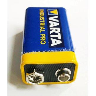 Varta 6LR61 - 9 V Industrial Pro Alkaline Batterij Mono D de alkaline batterij zeer betrouwbaar en perfect voor Professioneel en Thuis gebruik De voordelen van Varta Industrial Pro: Zeer Hoge Capaciteit  - Kwaliteit - Gaan Lang Mee IE-C Norm 6LR61, PP3, 6