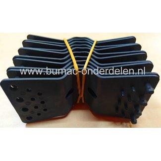Bevestigingsclips, 10 stuks, zwart, kunststof, voor het bevestigen van netten en zeilen
