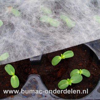 Vliesdoek, tuinvlies, kasvliesdoek,1,5x10 Mtr, wordt gebruikt voor vervroeging van een groentegewas, zoals sla en spitskool. Tevens biedt het doek enige bescherming tegen nachtvorst. Vliesdoek is zeer licht, waterdoorlatend en wordt gemaakt van polypropee