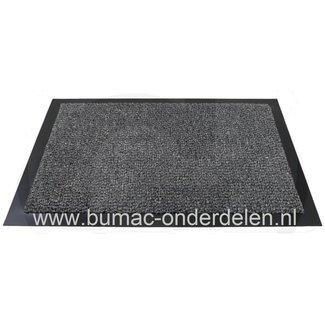 Vuilvangmat, 60 x 40x 0.5 cm, ook wel een vuil vangmagneet, schoonloopmat of entreemat genoemd is speciaal ontwikkeld om het loshangend vuil en vochtigheid te absorberen.  60 x 40x 0.5 cm, antraciet, Deurmat met Gedraaide nylon vezels zorgen voor een ve