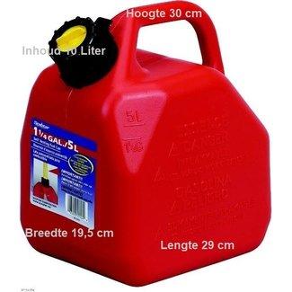 Handige jerrycan van 10  liter Met flexibele vulslang zodat je nooit meer morst. Verkrijgbaar in 5 liter, 10 liter, 20 liter. Gemaakt uit hoogwaardig kunststof. Aparte ventilatie. Speciaal ontwerp om makkelijk te gieten. Morsvrij systeem. De