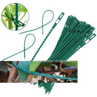 Plantenbinder 17cm kunststof groen 40 stuks Eenvoudig te gebruiken en herbruikbaar. Ideaal voor een verscheidenheid aan tuin- of kas toepassingen