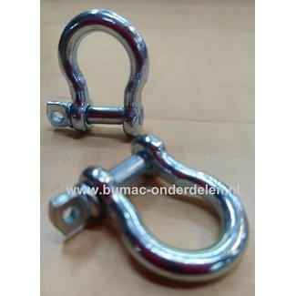 H-sluiting 5/16, Harpsluitingen zijn Sluitingen met een Gebogen Cirkelvorm Harpsluiting, Harpje, Sluiting