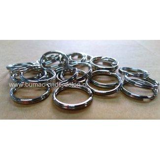 Sleutelring Ø 16 vernikkeld, Sleutelhangerring Ringen voor Sleutelhangers