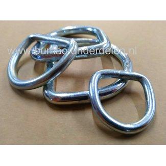 Gelaste D-Ring 6mm Verzinkt Heavy Duty D-ringen  (ook wel halfcirkelvormige ringen) D-ringen kunnen decoratief worden gebruikt, maar ook een echte functie hebben. Deze ring in D-vorm is universeel toepasbaar.   Sjoroog D-haak Heavy Duty D-ringen