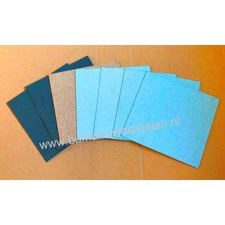 Pakkings papier 7 vel Dikte 0,6 - 0,9 - 1,5 - 1,7 mm pakkingpapier voor het zelf maken van pakkingen - Dichtingen  - Dichtingsmateriaal voor Grasmaaier,  Zitmaaier, Kettingzaag, Bosmaaier, Heggenschaar, Aggregaat, Veegmachine, Bladblazer, Hakselaar, Trilp