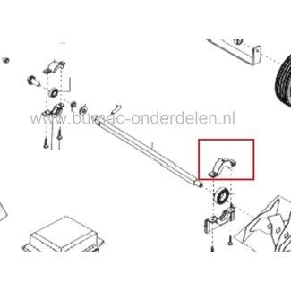 Linker Bovenste Lagerhouder voor Alko - Solo - Brill Verticuteermachine 3800VB, Lagerschaal houder 3800 VB