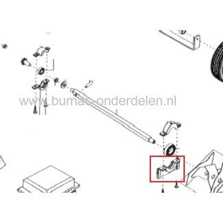 Linker Onderste Lagerhouder voor Alko - Solo - Brill Verticuteermachine 3800VB, Lagerschaal houder 3800 VB