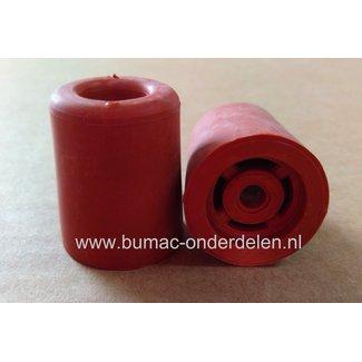 Deurbuffer 35mm Rubber Rood  Beschermen van zowel je Deurkrukken als Muren, Plinten of Meubels tegen beschadigingen van openslaande deuren Deurstop, Deurstopper Deurbuffer 35 mm
