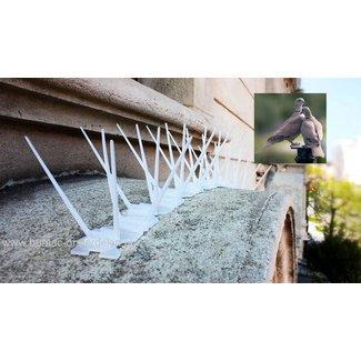 Duivenpinnen 100cm (3x33,3cm) zijn eenvoudig te monteren en klaar voor gebruik om vervelende vogels en duiven weg te jagen. Permanent, Onderhoudsvrij,  UV-en weerbestendig, Onzichtbaar Transparant Onopvallend en Flexibel Eenvoudige montage