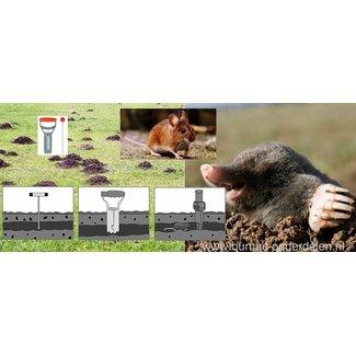 Zoekstaaf en Gatenprikker toebehoren voor Woelmuizenval Peilstok en Gatengraver