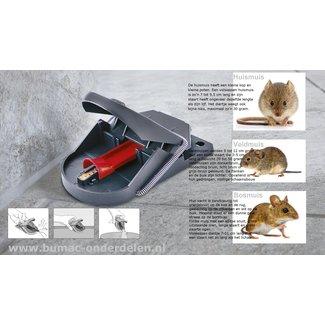 Muizenval Pro Nieuwe Generatie, Diervriendelijk en Efficiënt Muizen vangen Gepatenteerd Easy Catch-Systeem Geoptimaliseerde slagkracht Dood de muis onmiddellijk Inclusief natuurlijk Aas  Muizen kom je overal tegen, buiten in de weiden, maar ze kunnen ook