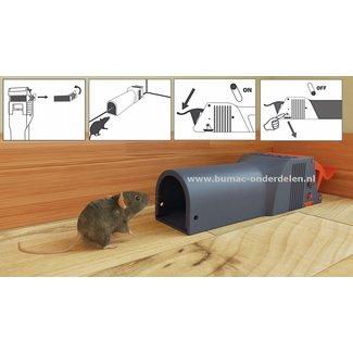 No See No Touch Muizenval,  Een Val die U het zicht op de gevangen en gedode muis bespaart en ook contact tijdens het weggooien vermijdt. Gebruiksklaar inclusief aas, Vangproces niet zichtbaar, Hygiënisch en veilig, geen huidcontact met het dier, Discrete