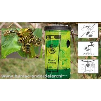 Wespen-Val  Milieuvriendelijke en veilige bescherming tegen wespen Wespen kunnen bijzonder gevaarlijk zijn en een ernstige bedreiging vormen voor mensen met allergieën. Daarom is deze Wespen-Val ontwikkeld, die zeer efficiënt is in het aantrekken en doden