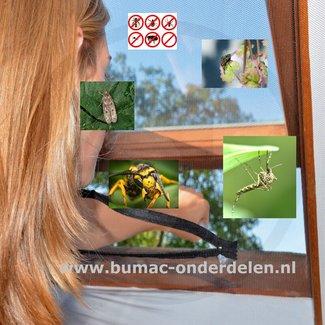 Horgaas Dakraam150x180 cm  klittenband bevestiging, met praktische rits,  Polyesterweefsel, UV-bestendig, Wasbaar Antraciet Beter leven - met op maat gemaakte insectenbescherming Raamhor Snel, Eenvoudig en Doeltreffend
