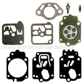 Membraanset voor Tillotson Carburateur op onder andere Stihl 034 en 038 Kettingzaag, Motorzaag, Membraan Reparatie set voor Tillotsen Carburateur HK-14A, HK-14B, HK-14C, HK-14D, HK-29B, HK-42A, HK-43A, HK-43B