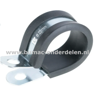 Leidingklem 33 mm Verzinkt Deze klemmen worden onder ander gebruikt voor het klemmen van Buizen, PVC buizen, Leidingen, Slangen, Kabels met een diameter van 33 mm Door de rubberen inleg zorgt de klem voor trilling demping en functioneert als bescherming v