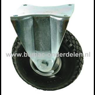 Bokwiel 260 mm met Luchtband 2-laags Een Bokwiel is een wiel dat bewegingen naar voren en achter kan uitvoeren De Bokwielen hebben een massieve zwarte rubberband De wielkern is gemaakt van geperst plaatstaal en voorzien van een stalen rollager Bokwiel, Wi