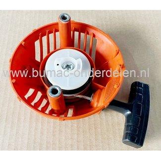 Starter Compleet HUSQVARNA voor 124C, 124L, 124R, 125C, 125E, 125L, 125LD, 125LDX, 125R, 125RJ, Bosmaaier, Trimmers, Motorzeisen, Handstarter