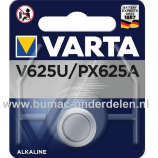Varta Alkaline V625U/PX625A Knoopcelbatterij 1,5 Volt De Knoopcelbatterijen zijn zeer betrouwbaar en perfect voor Professioneel en Thuis gebruik De Knoopcelbatterijen komen voor op horloges, elektronisch speelgoed, zaklampen, weegschalen en andere alledaa