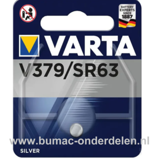 Varta Silver V379/SR63 Knoopcelbatterij 1,6 Volt De Knoopcelbatterijen zijn zeer betrouwbaar en perfect voor Professioneel en Thuis gebruik De Knoopcelbatterijen komen voor op horloges, elektronisch speelgoed, zaklampen, weegschalen en andere alledaagse a