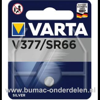 Varta Silver V377/SR60 Knoopcelbatterij 1,6 Volt De Knoopcelbatterijen zijn zeer betrouwbaar en perfect voor Professioneel en Thuis gebruik De Knoopcelbatterijen komen voor op horloges, elektronisch speelgoed, zaklampen, weegschalen en andere alledaagse a