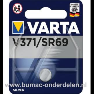 Varta Silver V371/SR69 Knoopcelbatterij 1,6 Volt De Knoopcelbatterijen zijn zeer betrouwbaar en perfect voor Professioneel en Thuis gebruik De Knoopcelbatterijen komen voor op horloges, elektronisch speelgoed, zaklampen, weegschalen en andere alledaagse a