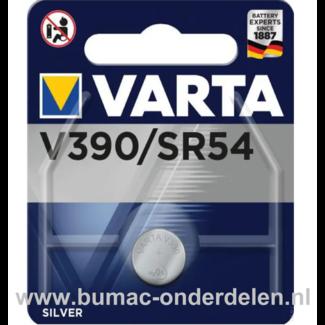 Varta Silver V390/SR54 Knoopcelbatterij 1,6 Volt De Knoopcelbatterijen zijn zeer betrouwbaar en perfect voor Professioneel en Thuis gebruik De Knoopcelbatterijen komen voor op horloges, elektronisch speelgoed, zaklampen, weegschalen en andere alledaagse a