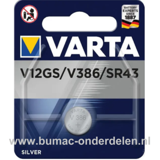 Varta Silver V12GS/V386/SR43 Knoopcelbatterij 1,6 Volt De Knoopcelbatterijen zijn zeer betrouwbaar en perfect voor Professioneel en Thuis gebruik De Knoopcelbatterijen komen voor op horloges, elektronisch speelgoed, zaklampen, weegschalen en andere alleda