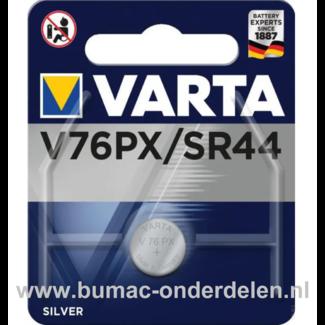 Varta Silver V76PX/SR44 Knoopcelbatterij 1,6 Volt De Knoopcelbatterijen zijn zeer betrouwbaar en perfect voor Professioneel en Thuis gebruik De Knoopcelbatterijen komen voor op horloges, elektronisch speelgoed, zaklampen, weegschalen en andere alledaagse