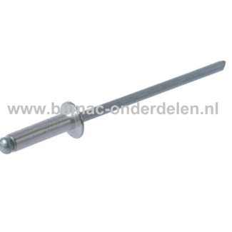 Blindniet 3,2x10 mm is een bevestigingsmiddel om twee stukken plaatmateriaal aan elkaar vast te maken De blindklinknagel kan toegepast worden bij delen die maar van een kant toegankelijk zijn De popnagel wordt in het gat van de te verbinden delen geschove