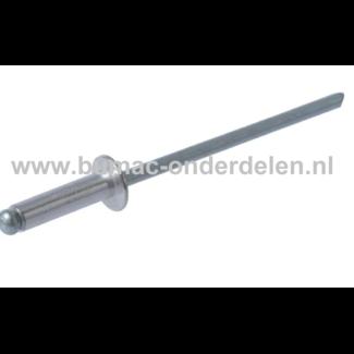 Blindniet 6,4x12 mm is een bevestigingsmiddel om twee stukken plaatmateriaal aan elkaar vast te maken De blindklinknagel kan toegepast worden bij delen die maar van een kant toegankelijk zijn De popnagel wordt in het gat van de te verbinden delen geschove