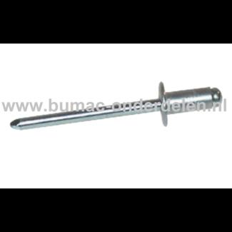 Blindniet 3x6 mm Staal/Staal  is een bevestigingsmiddel om twee stukken plaatmateriaal aan elkaar vast te maken De blindklinknagel kan toegepast worden bij delen die maar van een kant toegankelijk zijn De popnagel wordt in het gat van de te verbinden dele