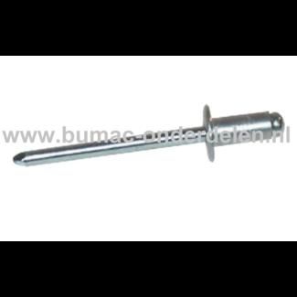 Blindniet 3,2x6 mm Staal/Staal is een bevestigingsmiddel om twee stukken plaatmateriaal aan elkaar vast te maken De blindklinknagel kan toegepast worden bij delen die maar van een kant toegankelijk zijn De popnagel wordt in het gat van de te verbinden del