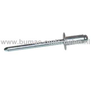 Blindniet 6,4x18 mm Staal/Staal is een bevestigingsmiddel om twee stukken plaatmateriaal aan elkaar vast te maken De blindklinknagel kan toegepast worden bij delen die maar van een kant toegankelijk zijn De popnagel wordt in het gat van de te verbinden de