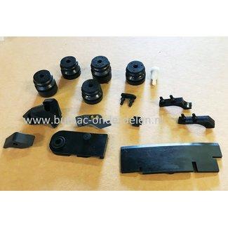 Trillingsdemperset voor Komatsu Zenoah Kettingzaag G500 G43, G45, G52, G455, G500G, 4500, 5200 Kettingzaag, Motorzaag, Benzinezaag, Ophangrubberset, Trillingsdempers, Set Vibratierubber
