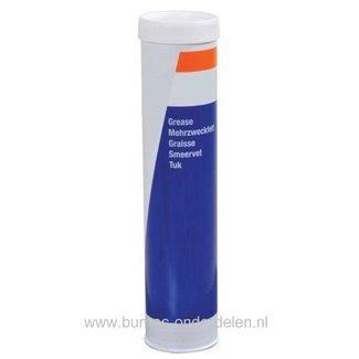 Vetpatroon 400 gram voor Vetspuit, Universeel Smeervet op Basis van Minerale olie met goede Oxidatie en Water Bescherming
