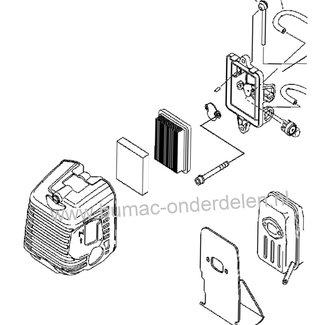 Luchtfilterdeksel voor ECHO - SHINDAIWA Bosmaaiers, Trimmers, Motorzeisen, Luchtfilterkap SRM4000, SRM5000, SRM 4000, SRM 5000