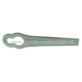 Kunststof Maaimes - Snijvinger voor Qualcast HoverSafe, Black & Decker, Flymo, Elektro Grasmaaier, Elektrische Gras, maaier, Electrische Grasmaaier Minimo, Verpakt per 10 Stuks
