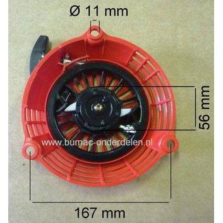 Handstarter Honda Compleet voor GCV en GC135 - GC160 & GC190 motor op Grasmaaier, Veegmachine, Tuinfrees, Trilplaat