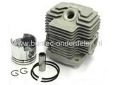 KAWASAKI Cilinder Compleet voor TH48, Bosmaaier - Trimmer - Strimmer, Kawasaki Complete Cilinder Set met Zuiger - Zuigerveren en Pistonpen